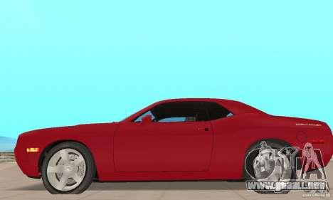 Dodge Challenger 2007 para GTA San Andreas vista posterior izquierda
