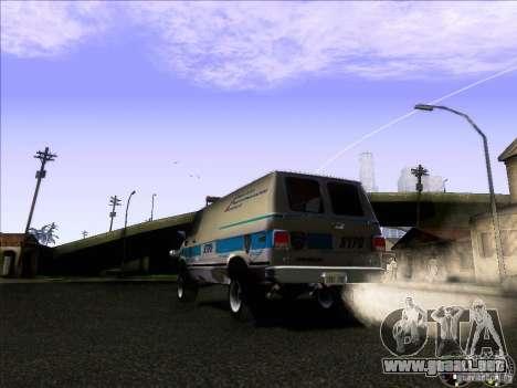 Chevrolet VAN G20 NYPD SWAT para la visión correcta GTA San Andreas