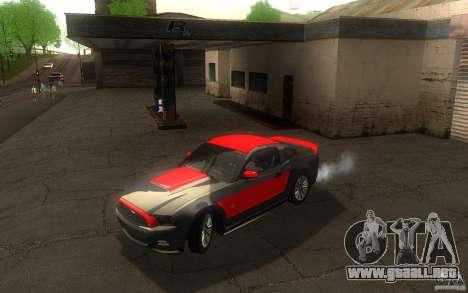 Ford Mustang GT V6 2011 para la vista superior GTA San Andreas