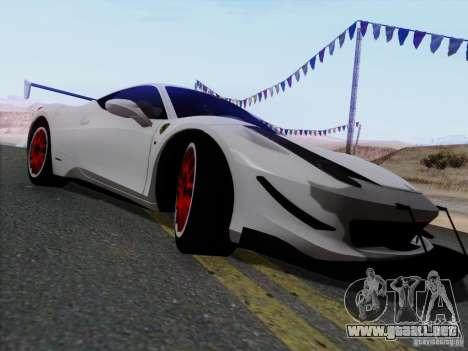 Ferrari 458 Italia Tuned para GTA San Andreas left