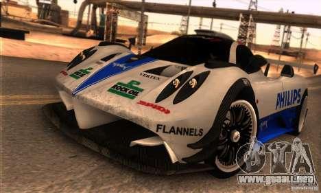Pagani Zonda R para vista inferior GTA San Andreas
