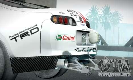 Toyota Supra JZA80 RZ Dragster para la visión correcta GTA San Andreas