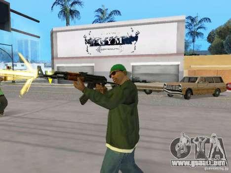 AKC - 47 HD para GTA San Andreas quinta pantalla