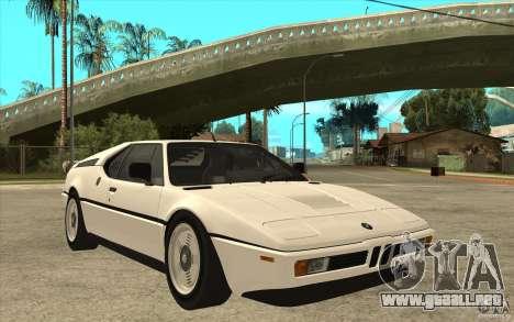 BMW M1 1981 para GTA San Andreas vista hacia atrás