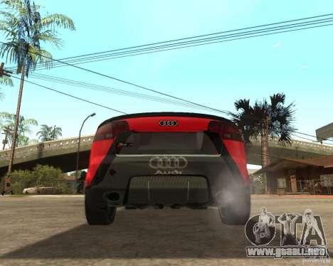 Audi RS4 Grip para GTA San Andreas vista posterior izquierda