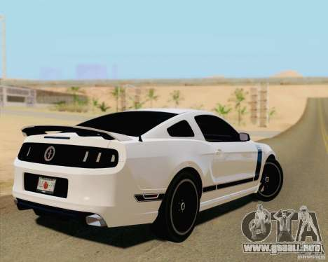 Ford Mustang Boss 302 2013 para GTA San Andreas left