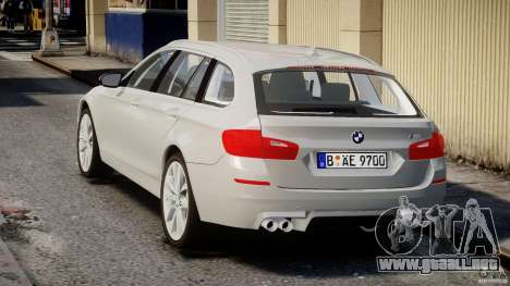 BMW M5 F11 Touring para GTA 4 Vista posterior izquierda