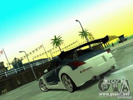Nissan 350z Tea Hair para GTA San Andreas vista hacia atrás