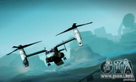 MV-22 Osprey para la vista superior GTA San Andreas