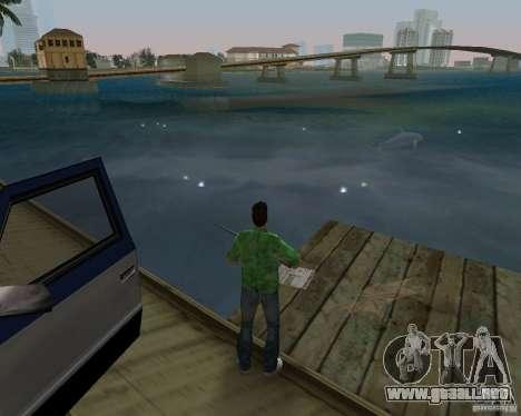 Agua nueva, periódicos, hojas, luna para GTA Vice City novena de pantalla