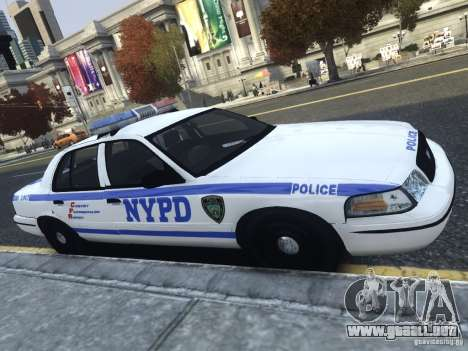 Ford Crown Victoria NYPD 2012 para GTA 4 left