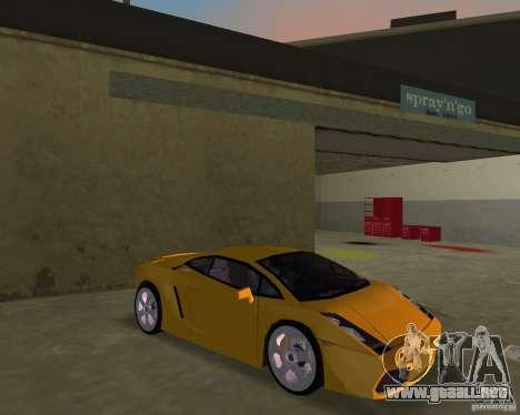 Lamborghini Gallardo v.2 para GTA Vice City vista posterior
