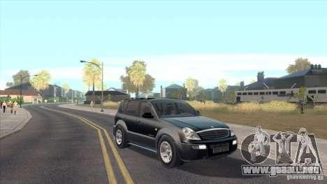 SsangYong Rexton 2005 para visión interna GTA San Andreas