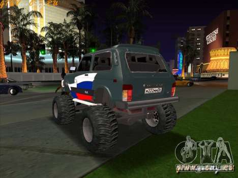 VAZ-21213 4x4 Monster para GTA San Andreas left