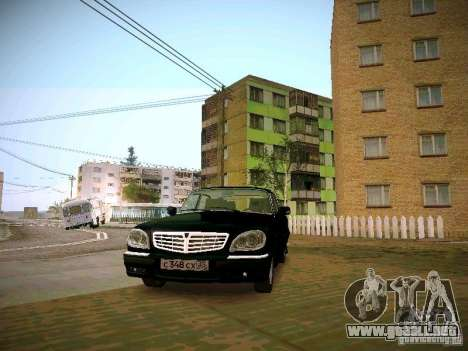 GAZ 31105 Volga S60 para GTA San Andreas vista hacia atrás