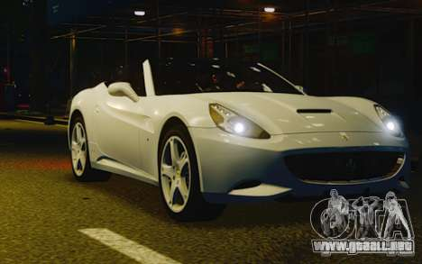 Ferrari California para GTA 4 vista interior