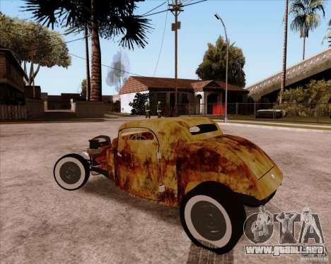 Ford Rat Rod para GTA San Andreas vista hacia atrás
