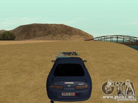 Toyota Supra para vista inferior GTA San Andreas