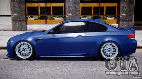 BMW M3 Hamann E92 para GTA 4 Vista posterior izquierda
