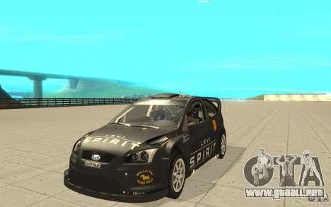 2 trabajos de pintura para el Ford Focus RS WRC  para la visión correcta GTA San Andreas