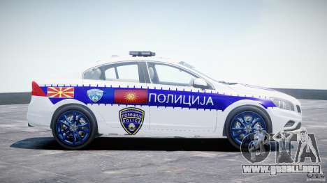 Volvo S60 Macedonian Police [ELS] para GTA 4 vista interior