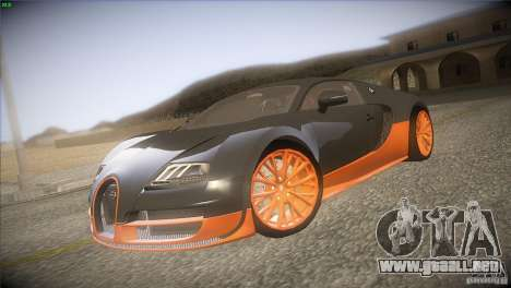 Bugatti Veyron Super Sport para GTA San Andreas vista posterior izquierda