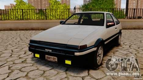 Toyota Sprinter Trueno GT 1985 Apex [EPM] para GTA 4