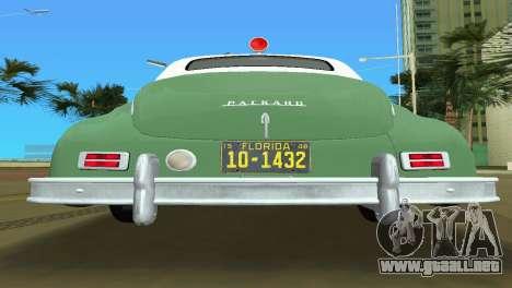 Packard Standard Eight Touring Sedan Police 1948 para GTA Vice City vista interior