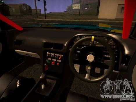 Nissan Onevia 2JZ para GTA San Andreas vista hacia atrás