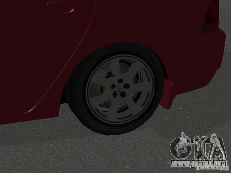 Toyota Corolla Sedan para GTA San Andreas vista hacia atrás