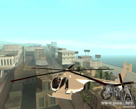 AH-6C Little Bird para GTA San Andreas left