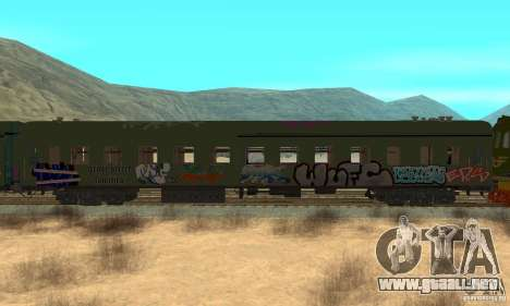 Custom Graffiti Train 2 para GTA San Andreas vista posterior izquierda
