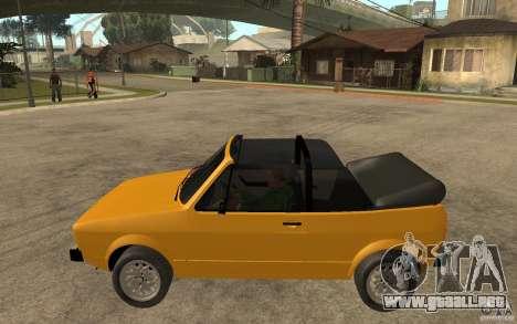 Volkswagen Golf MK1 Cabrio para GTA San Andreas left