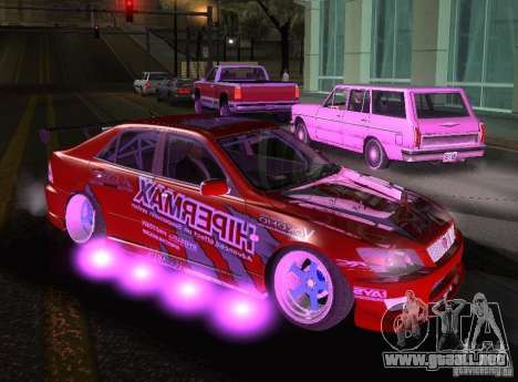 Toyota Altezza Hipermax para la visión correcta GTA San Andreas