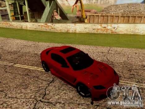 Mazda RX8 Reventon para GTA San Andreas vista hacia atrás