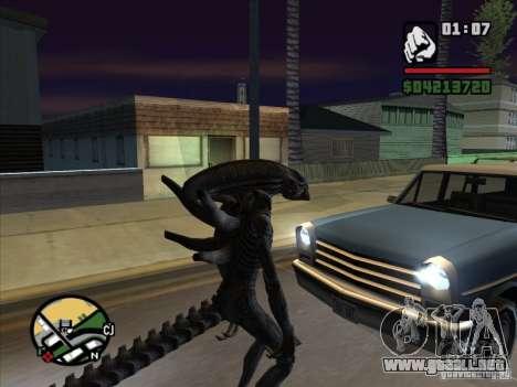 Xenomorph alienígena para GTA San Andreas tercera pantalla