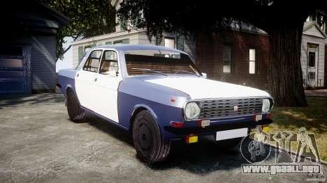 Volga GAZ-2410 1989 v2.1 para GTA 4 vista hacia atrás