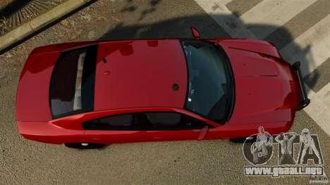 Dodge Charger RT Max FBI 2011 [ELS] para GTA 4 visión correcta