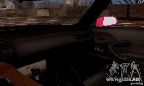 Honda S2000 The Fast and the Furious 2 para vista lateral GTA San Andreas