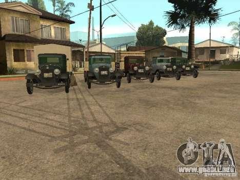 FORD AA para GTA San Andreas vista hacia atrás