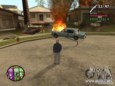 Overdose effects V1.3 para GTA San Andreas sexta pantalla