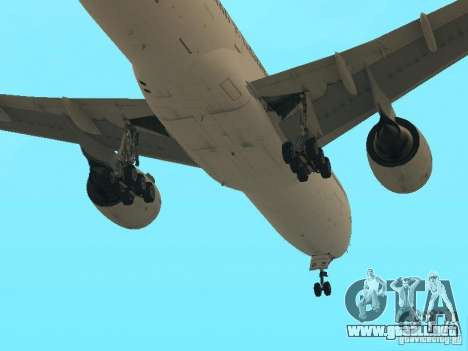 Boeing 777-200 Air France para la vista superior GTA San Andreas