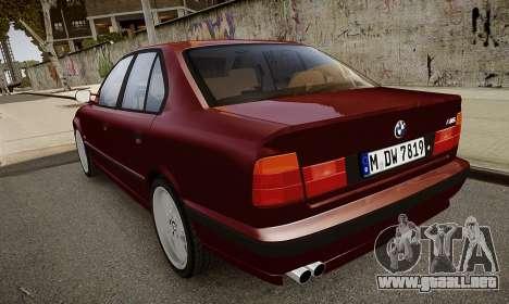 BMW M5 (E34) 1995 v1.0 para GTA 4 vista lateral