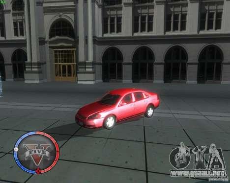 Chevrolet Impala 2008 para la visión correcta GTA San Andreas