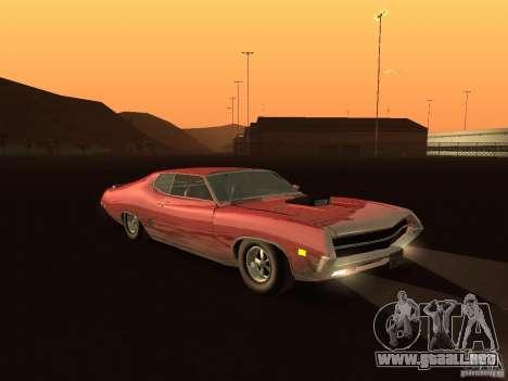 Ford Torino Cobra 1970 Tunable para GTA San Andreas vista hacia atrás