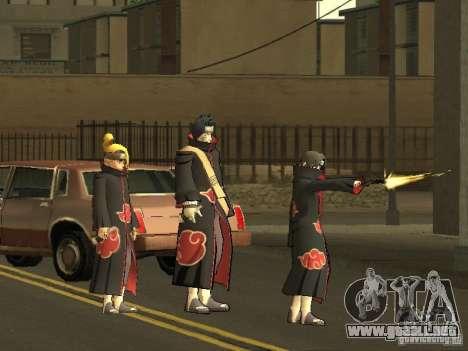 The Akatsuki gang para GTA San Andreas sucesivamente de pantalla