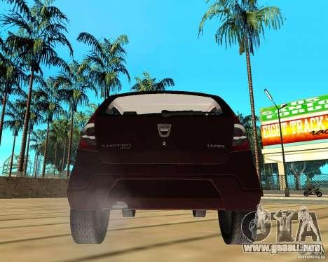 Dacia Sandero 1.6 MPI para GTA San Andreas vista posterior izquierda