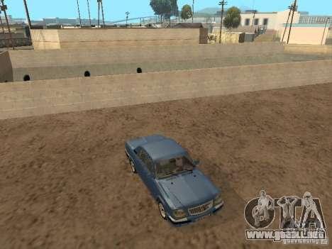 GAZ Volga 31105 para GTA San Andreas vista hacia atrás