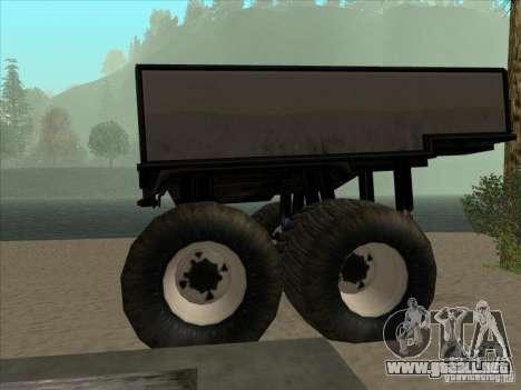Remolque para el carro Monsterous para GTA San Andreas left