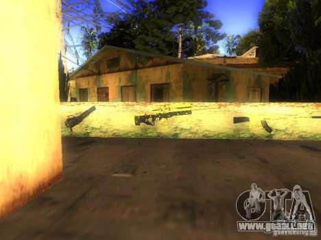 Armas en la calle Grove para GTA San Andreas sucesivamente de pantalla
